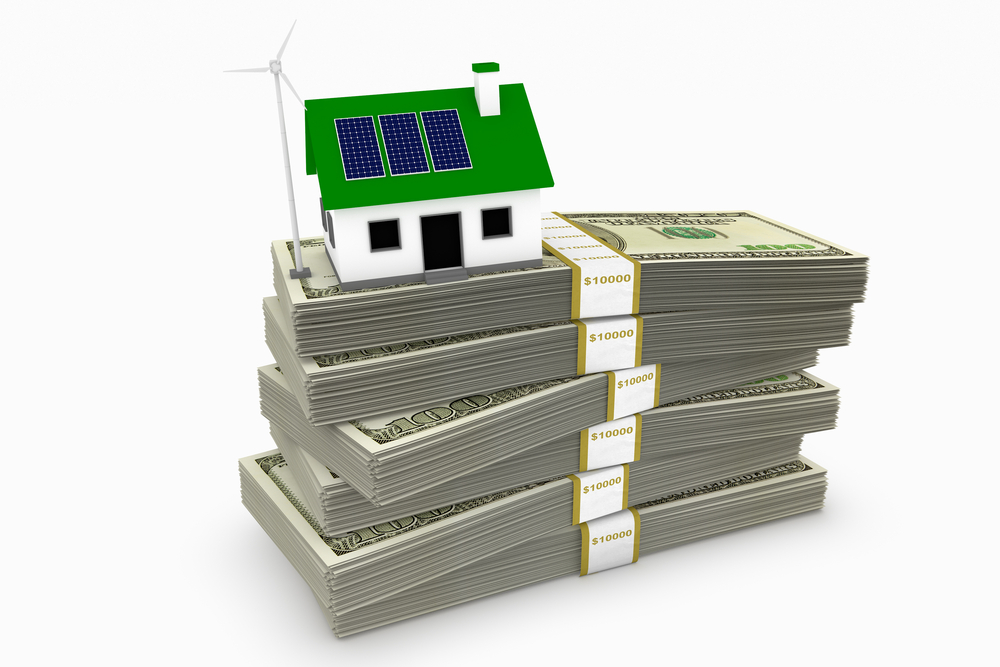 Green energy saving money